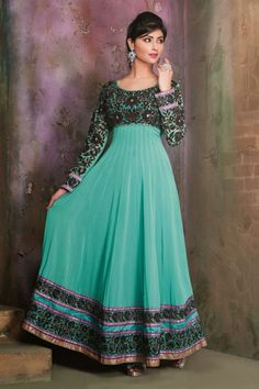 zohraa.com presenting Blue Faux Georgette #Anarkali #Suit with Embroidered and Lace Work  Order Now@ http://zohraa.com/blue-faux-georgette-suit-man874cat22498.html  Rs. 4,499.
