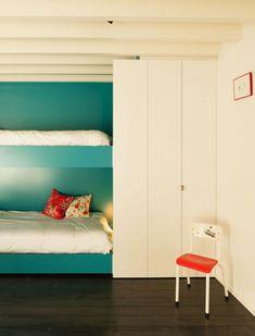 Maison contemporaine LKS - chambre avec lits jumeaux