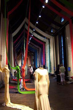 A-Poc Making, Vitra Design Museum, Berlin, Germany. Vitra Design Museum, Exhibit Design, Deer Design, Box Design, Fashion Displays, Fabric Display, Textile Museum, Art Clothing, Exhibition Display