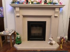 Portland basebed limestone fireplace surround . Natural Stone Fireplaces, Limestone Fireplace, Fireplace Surrounds, Natural Stones, Portland, Home Decor, Decoration Home, Room Decor, Home Interior Design