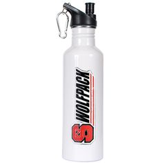 North Carolina State Wolfpack NCAA White Stainless Steel Water Bottle with Pop-up Spout North Carolina State Wolfpack, Stainless Steel Water Bottle, Pop Up, Popup