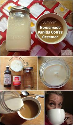 """Take your coffee """"beige""""? Love vanilla coffee creamer, but hate the list of ingredients? This Homemade Vanilla Coffee Creamer Recipe only has 3-ingredients."""