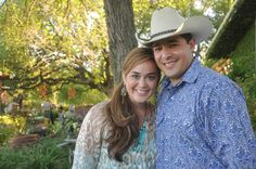 Need an example of cowboy chic? This couple has the right idea! #BandanaBall