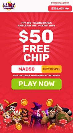 "One of the best USA online casinos now has a $50 no deposit bonus + a 400% welcome bonus good for the slots. An incredible no deposit bonus awaits all new players at Slot Madness Casino. Casino SLOT MADNESS gives sign up for $50 free Chip no deposit bonus with the code coupon ""MAD50"". After registration, you need to open the casino's cashier and click on the bonus tab to opt in for the bonus. The winnings accrued with the free chip are cashable but only after the wagering requirements of… Best Online Casino, Online Casino Bonus, Best Casino, Free Slot Games, Free Slots, Money Games, Casino Games, News Online, Free Money"