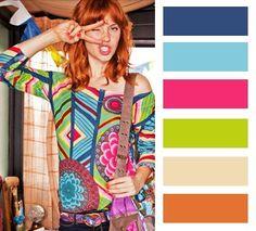 palette de couleurs de la publicité