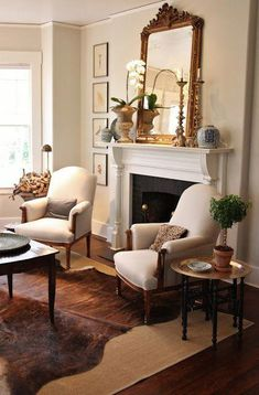 for the love of a house: spring living room with blue & white on the mantel. - for the love of a house: spring living room with blue & white on the mantel… - Formal Living Rooms, Home Living Room, Living Room Designs, Apartment Living, Modern Living, French Country Living Room, Classic Living Room, Southern Living, French Country Fireplace
