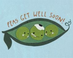 Peas Get Well Card made by survivors of human trafficking