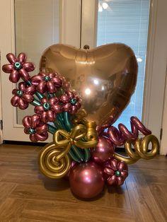Valentines Balloons, Birthday Balloons, Birthday Parties, Balloon Flowers, Balloon Bouquet, Valentine Bouquet, Balloon Gift, Balloon Decorations Party, Valentine Crafts