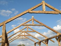 Bristol based company using locally sourced timber and a unique manufacturing process to provide precise, strong and durable roundwood structures. Timber Frame Homes, Timber House, Wooden Poles, Garden Buildings, Roof Design, How To Level Ground, Building A House, Shed, Construction
