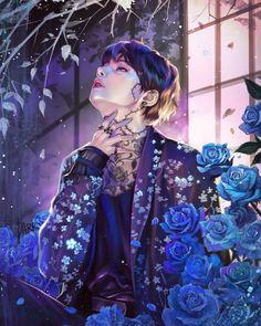 Kim Taehyung * V fan art Taehyung Fanart, Bts Taehyung, Bts Anime, Anime Guys, Daegu, Fanart Kpop, Bts Beautiful, Kpop Drawings, Bts Chibi