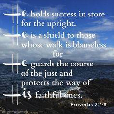 Proverbs 2:7-8