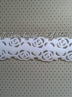 #faixa decorativa em biscuit para uso artesanal
