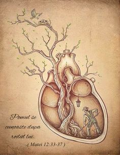 Canvas Prints featuring Tree of Life by Enkel Dika Anatomical Heart Drawing, Tree Of Life Art, Brain And Heart, Heart Tree, Heart Painting, Rock Painting, Bird Drawings, Fun Drawings, Canvas Prints