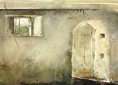 View Stable Door by Andrew Wyeth on artnet. Browse upcoming and past auction lots by Andrew Wyeth. Andrew Wyeth Paintings, Andrew Wyeth Art, Jamie Wyeth, Nc Wyeth, Amazing Paintings, Amazing Art, Global Art, Watercolor Landscape, Art Auction