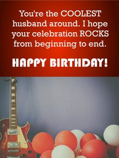 Youre The Coolest Husband Happy Birthday Wishes Card