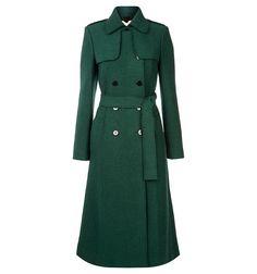 Kate Middleton wearing Hobbs London Persephone Trench Coat in Pine Green. Green Trench Coat, Wool Trench Coat, Double Breasted Trench Coat, Hobbs Coat, Hobbs London, Kate Middleton Style, Estilo Fashion, Coat Dress, Green Dress