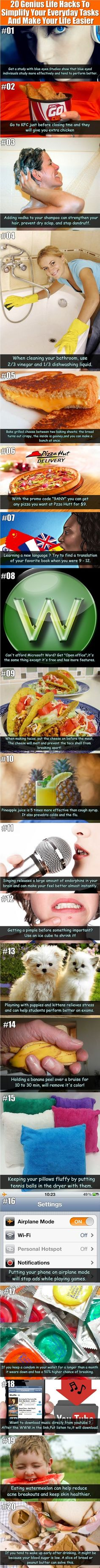 Life Hacks: You Life Can Be Fun And Easier With Those Genius Ideas. 20 Genius Life Hacks To Simplify Your Everyday Tasks And Make Your Life Genius Life Hacks To Simplify Your Everyday Tasks And Make Your Life Easier. Info Board, Things To Know, Good Things, Creative Things, Random Things, 1000 Lifehacks, Just In Case, Just For You, E Mc2