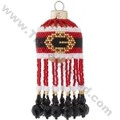 Santas Buckle Christmas Bauble Ornament Bead Pattern By ThreadABead
