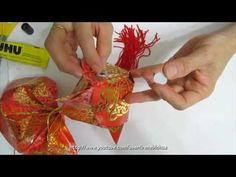 The fish is an auspicious item during the Lunar New Year celebrations.this video will help you create the beautiful ornamental fish for decorating your ho. Hobbies And Crafts, Diy And Crafts, Crafts For Kids, Paper Crafts, Fish Lanterns, Chinese Lanterns, Origami Tutorial, Origami Easy, Chinese Decorations