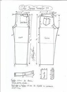 jeans - cintura media-38