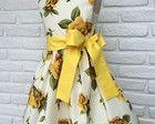 Vestido Festa Infantil Floral Amarelo