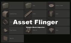 Blender Addon List: Addon: Asset Flinger