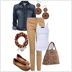 CHATA'S DAILY TIP: Project a playful, yet super stylish, look by repeating interesting shapes with your accessories. The denim jacket and must-have bag complements this casual outfit. Tapered pants (or skinny jeans) elongate your legs. Replace the flats with high heels for a more sophisticated look. COPY CREDIT: Chata Romano Image Consultant, Rita Els http://chataromano.com/consultant/rita-els/ IMAGE CREDIT: Pinterest #chataromano #imageconsultant #colour #style #fashion