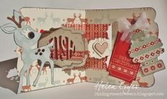 The Dining Room Drawers: Pop 'n Cuts Label Window Deer Christmas Card for Sizzix; Sept 2013