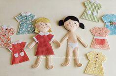 Muito lindas estas bonecas de feltro da Charla Anne, aqui no blog  charlaanne: made with love :  Quem quiser se aventurar para fazer, po...