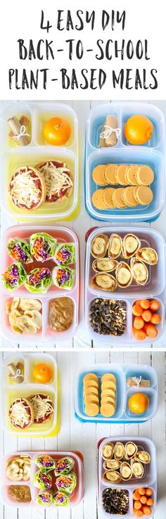 4 Easy DIY Back-To-School Plant-Based Meals | Vegan, Gluten-free, Low-fat | The…