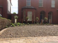Dublin garden featuring gravel drive way and sandstone edging Paving Edging, Gravel Drive, Dublin House, Edging Ideas, Landscaping Company, Driveways, Paths, Garden Design, Garden Ideas