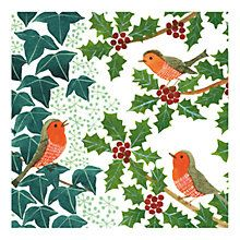 Buy Museums & Galleries Robins and Holly Charity Christmas Cards, Pack of 8 from our Christmas Cards range at John Lewis & Partners. Charity Christmas Cards, Christmas Wrapping, Christmas Art, Christmas And New Year, Christmas Holidays, Christmas Decorations, Xmas, Vintage Wrapping Paper, 3d Craft
