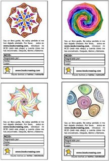 bookcrossing labels made by the wonderful boirina, with some help from fellow bcers - click through for printable pdf
