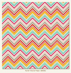 My Girl Chevron 12X12 Paper...happy colors