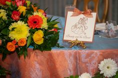 Disney Fairy Tale Wedding reception table names after famous Disney couples