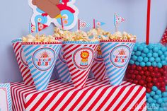 Circus Baby Shower Party Cones & Bonus Mini Hershey Wrapper by LeeLaaLoo - We have sent your purchased email