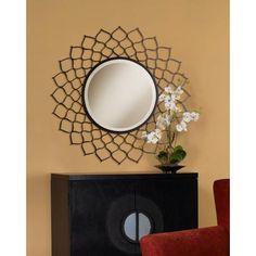 "Black Dahlia 36"" Wide Wall Mirror"