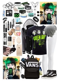 """HeyThereImShannon ~15~"" by i-am-the-one-and-only ❤ liked on Polyvore featuring Beats by Dr. Dre, Eos, Vans, J Brand, Coal, Hot Topic, Monki, Kat Von D, Christian Dior and NARS Cosmetics"