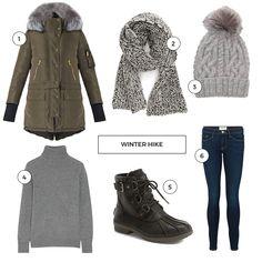 Shopping list for Big Bear Lake, California // A Winter Hike