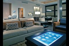a tablet as a coffee table would be crazy awesome! It could potentially link and control everything in the home from lighting to televisions to locking/unlocking doors!