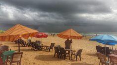 Monsoon clouds over Calangute Beach, Goa