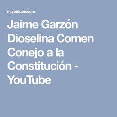 Jaime Garzón Dioselina Comen Conejo a la Constitución - YouTube