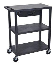 3 Flat Shelf Utility Cart