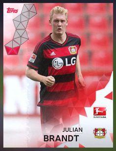 Julian Brandt Bayer Leverkusen (Bundesliga) Red Parallel Card 2016 Topps KICK