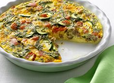 Crustless Italian Egg Whites Quiche