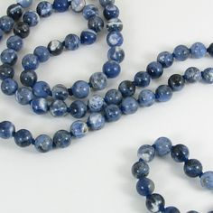 Long Handknotted Sodalite Necklace by bluesprucecrafts on Etsy, $38.00