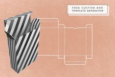 Free online box template generator, boxes can be customized by size
