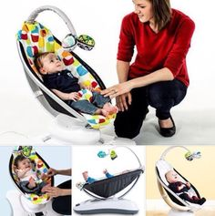 Colorful Mama Roo Bouncer Seat Keeps Your Baby Happily Connected with the World!