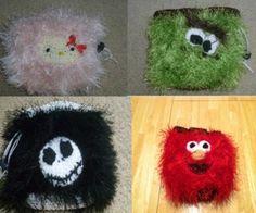 DIY Fuzzy Crochet Bags