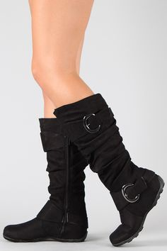 Best-79 Buckle Slouchy Knee High Boot--> I have a slight obsession with boots, but I think it is due to the fact that my calves are too big to let me wear them.